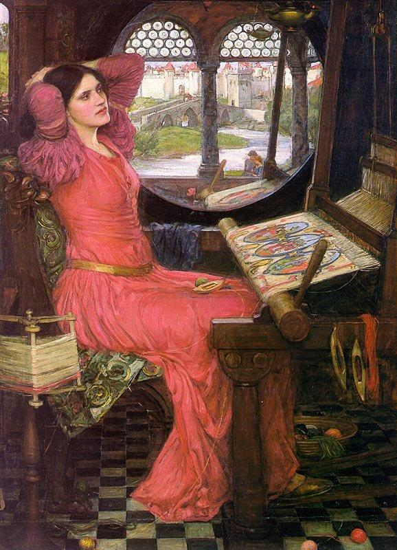 John William Waterhouse, I am half-sick of shadows said the lady of shalott, 1916